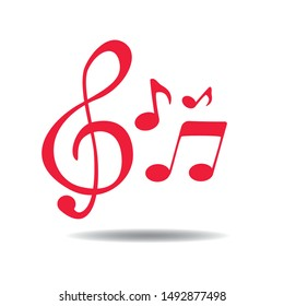 Music note element icon vector concept flat illustration