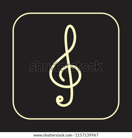 Music Note Icon Gclef Treble Musical Stock Vector Royalty Free