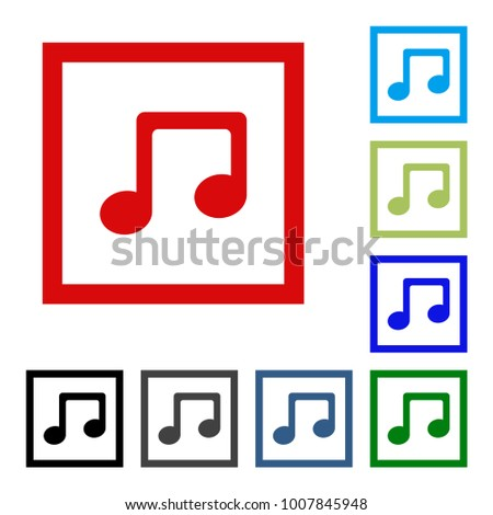 Music Note Icon Outline Transparent Vector Stock Vector Royalty