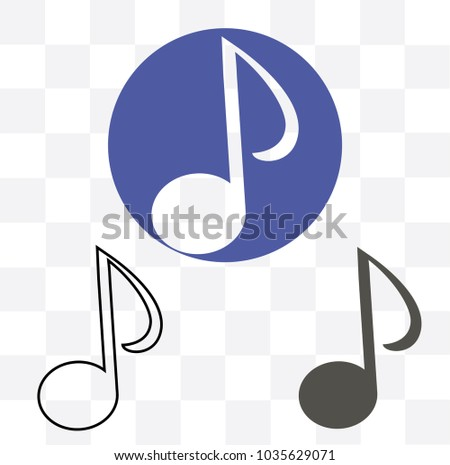 Music Note Icon Outline Transparent Stock Vector Royalty Free