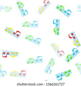 Music note Icon, Seamless Wallpaper pattern.