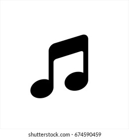 Music note icon in trendy flat style isolated on background. Music note icon page symbol for your web site design Music note icon logo, app, UI. Music note icon Vector illustration, EPS10.