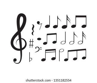 Music note Icon Vector design