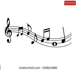 Music note Icon,flat music note symbol design