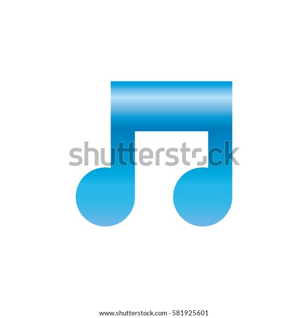 Music note isolated icon vector illustration graphic design