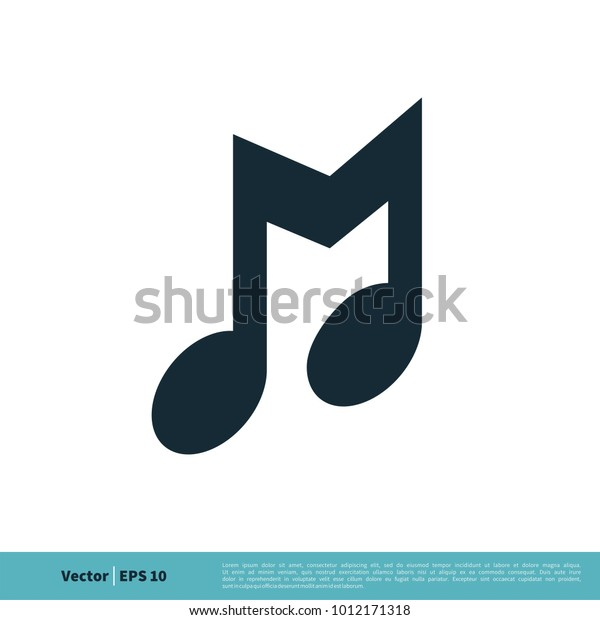Music Note Letter M Icon Vector Stock Vector (Royalty Free