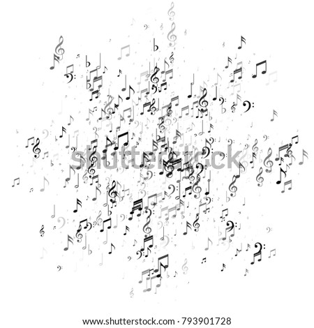 Music Note Signs Symbols Background Dance Stock Vector Royalty Free