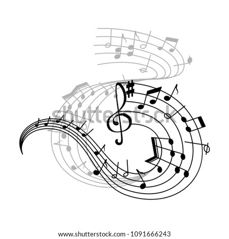 Music Note Stave Icon Musical Notation Stock Vector Royalty Free