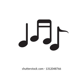 Music note symbols logo and icons template