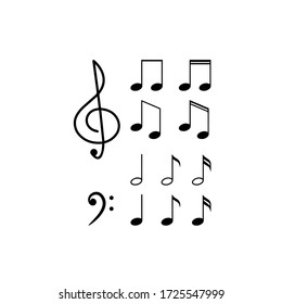 Music note in vector file