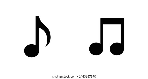 Music note vector icons. Sound and melody symbols.
