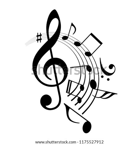 Music Notes Abstract Design Vector Icon Stock Vector Royalty Free