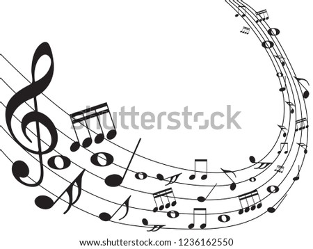 Music Notes Abstract Musical Background Vector Stock Vector Royalty