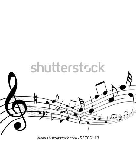 Music Notes Background Stock Vector Royalty Free 53705113