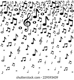 Music notes music notes background vector illustration voltagebd Image collections