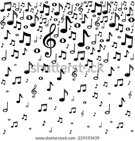 Music Notes Background Vector Illustration Stock Vector Royalty