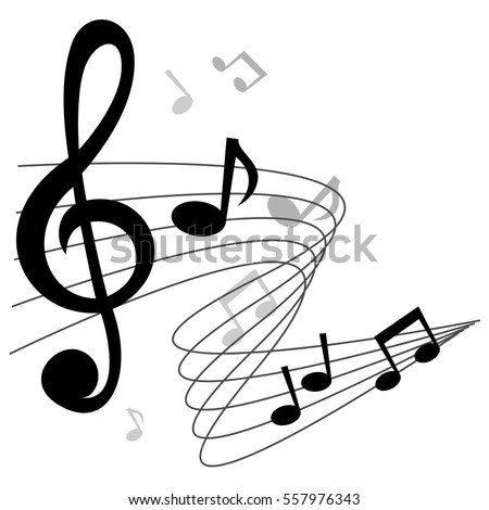 Music Notes Chords Vector Background Design Stock Vector (Royalty ...