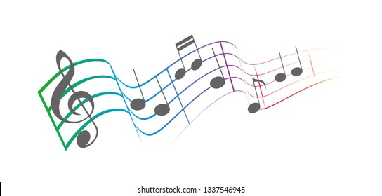 music notes colorfull