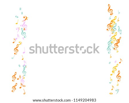 Music Notes Confetti Falling Chaos Vector Stock Vector Royalty Free