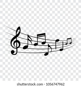 Music notes, design element, isolated, vector illustration.