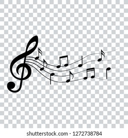 Music notes, design elements, vector illustration.