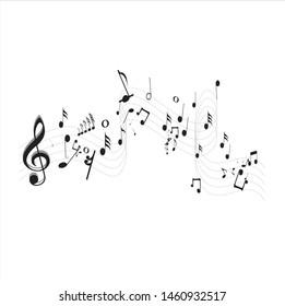 Music Notes Design,Vector illustration Design.