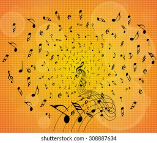 Music Notes Explode