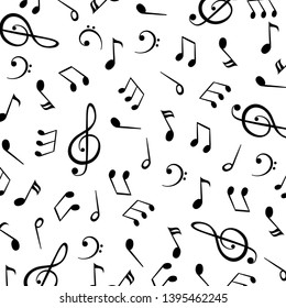 Music notes, group musical notes background – stock vector