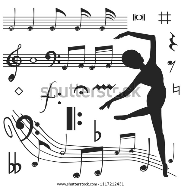 Music Notes Icon Design Song Melody Stock Vector (Royalty