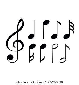 Music Notes Icon, Music Symbol, Sound Icon