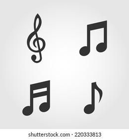 Imágenes Fotos De Stock Y Vectores Sobre Notas Musicales Shutterstock