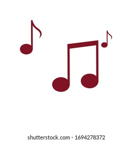 Music notes icons set. Vector illustration