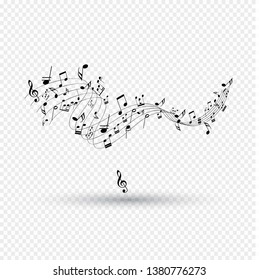 Music notes  musical design element  isolated  vector illustration. - Vector