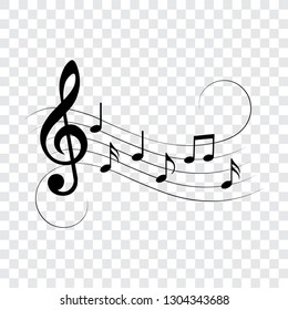 Music notes, musical design, vector illustration.