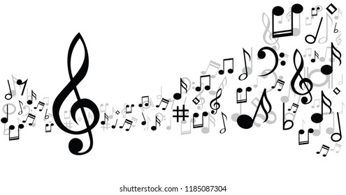 Music notes musical notes waves Vector party loading icon background banner icon symbols shhh funny fun music art seamless pattern sound backdrop concept staf Music Line transparent stave staff
