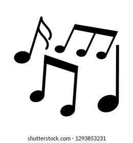 Music notes, song, melody icon vector