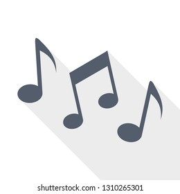 Music notes, song, melody icon, vector illustration
