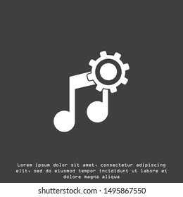 Music notes, song, melody or tune flat vector icon for musical apps and websites acoustic guitar vector icon.classic,instrument, musical,rock,sound,acoustic,string,play,electric,concert,song,musician