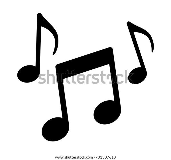 Музыкальные ноты, песни, мелодии или мелодии плоский векторный значок для музыкальных приложений и веб-сайтов