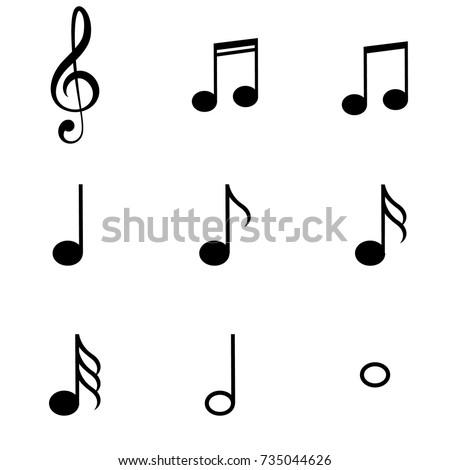 Music Notes Symbols Set