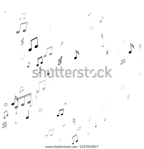 Music Notes Treble Clef Flat Sharp Stock Vector (Royalty
