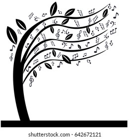 music notes tree