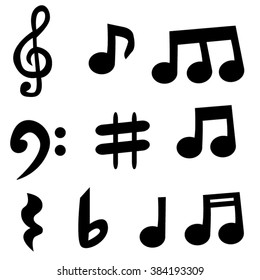 Music notes vector.