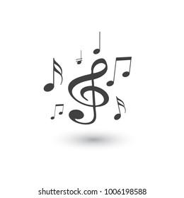 Music notes. Vector illustration.