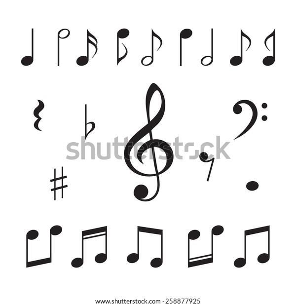 Музыкальные ноты. Векторная иллюстрация.