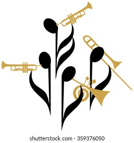 Music notes|Jazz quartet