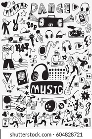 Music party doodles