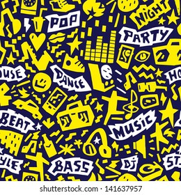 music party - seamless vector pattern