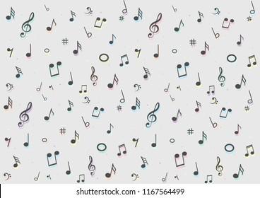 Music Pattern Background