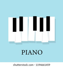 Music piano keyboard. Poster background template.